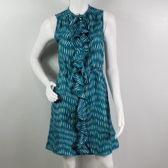 Anthropologie Dresses & Skirts - Anthro Lilka Dress Sz 0 Ruffled 100% Silk Buttons